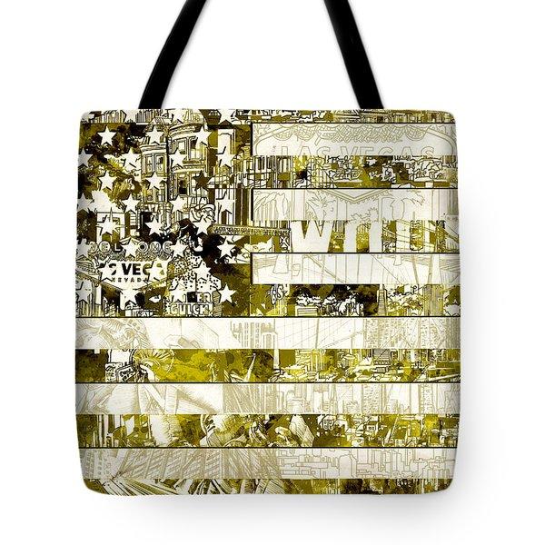 Usa Flag 13 Tote Bag