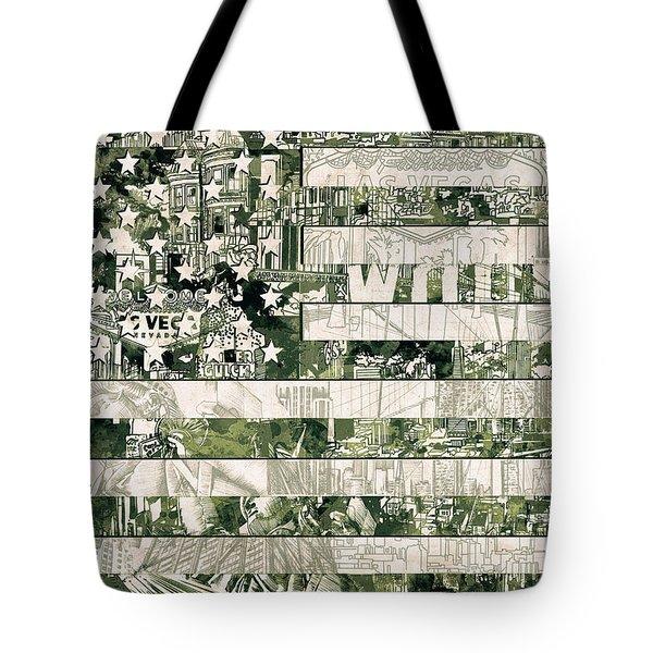 Usa Flag 15 Tote Bag