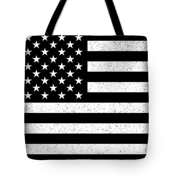 Tote Bag featuring the digital art Usa Flag Hidef Super Grunge Patina by Bruce Stanfield