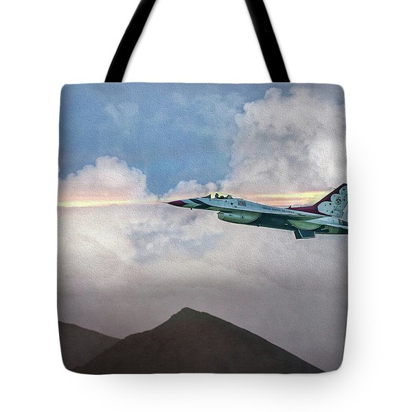 Usaf The Lone Thunderbird Tote Bag