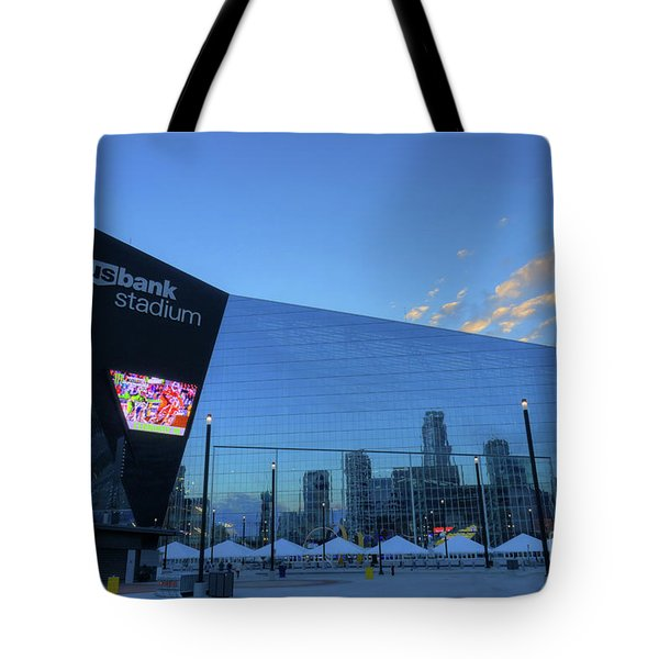 Usbank Stadium Morning Tote Bag