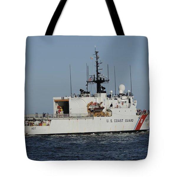 Uscgc Escanaba Heads To Sea Tote Bag