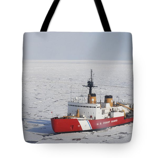 Uscgc Polar Sea Conducts A Research Tote Bag
