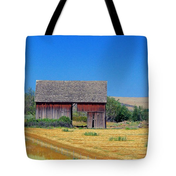 Used To Be Red Barn Tote Bag