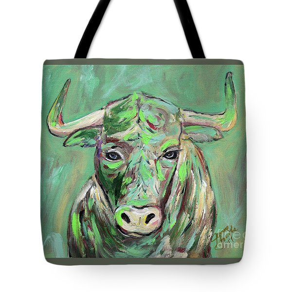 Tote Bag featuring the painting Usf Bull by Jeanne Forsythe