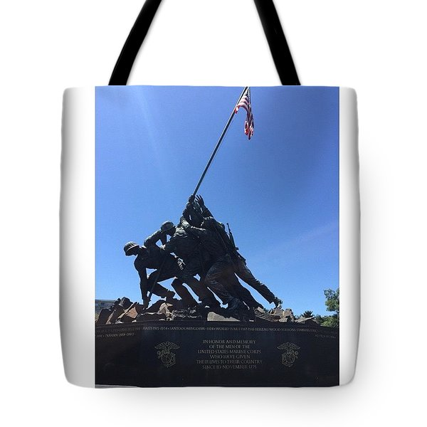 Usmc War Memorial Tote Bag