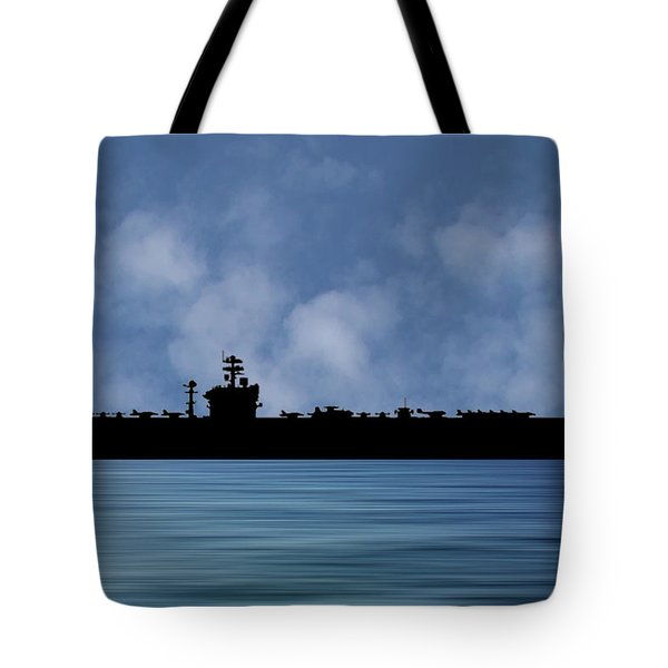 Uss Abraham Lincoln 1988 V1 Tote Bag