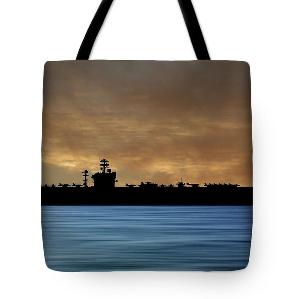 Uss Abraham Lincoln 1988 V2 Tote Bag