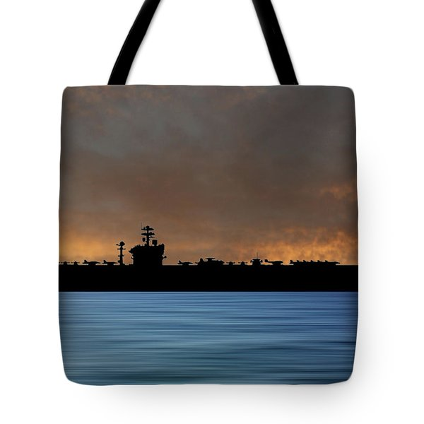 Uss Abraham Lincoln 1988 V3 Tote Bag