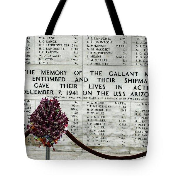 U.s.s. Arizona Memorial Tote Bag