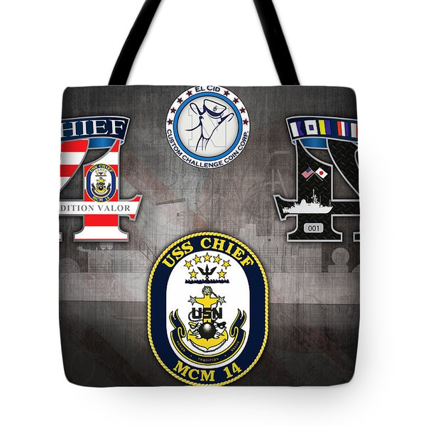Uss Chief 14 Coin Tote Bag by Tony Cooper