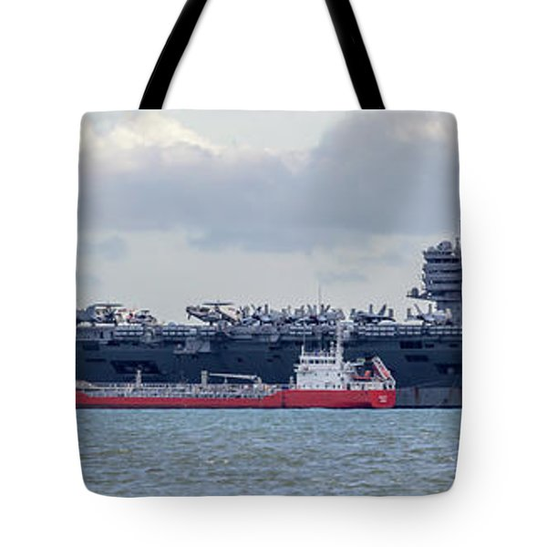 Uss George H.w Bush. Tote Bag