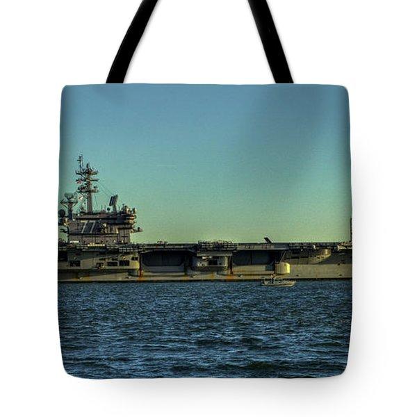 Uss George Hw. Bush Tote Bag