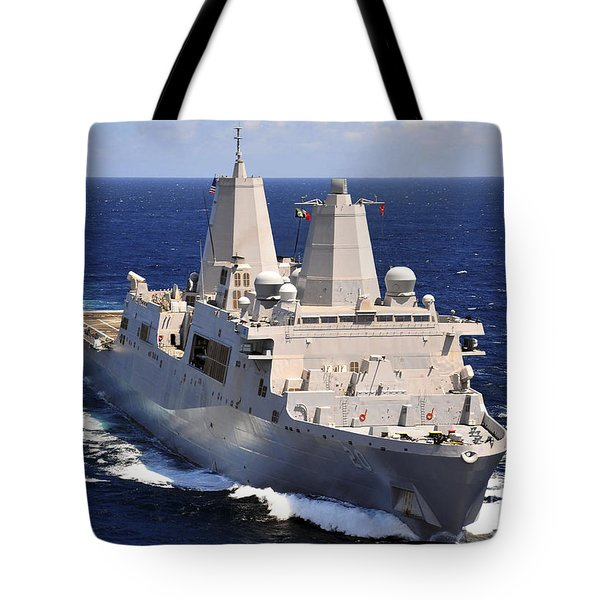 Uss Green Bay Transits The Indian Ocean Tote Bag by Stocktrek Images