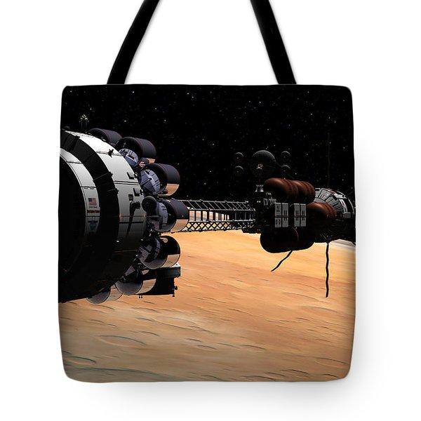 Uss Hermes 1 In Orbit Tote Bag