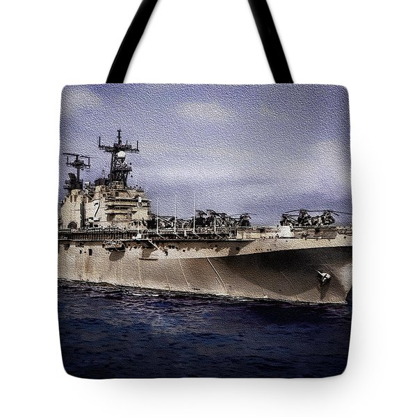 Uss Iwo Jima Lph2 Tote Bag