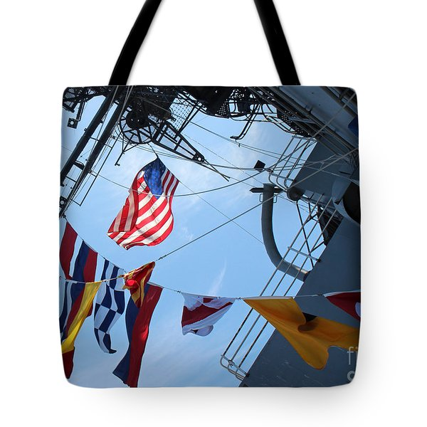 Uss Midway Flag Tote Bag