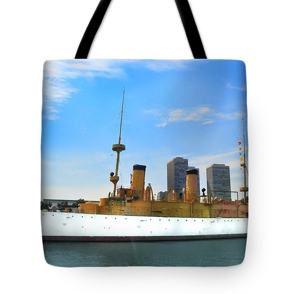 Uss Olympia Tote Bag by Bill Cannon