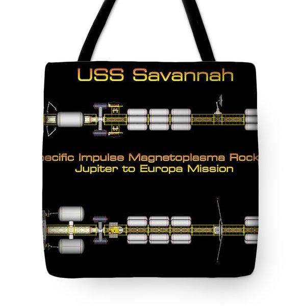 Tote Bag featuring the digital art Uss Savannah Profile by David Robinson