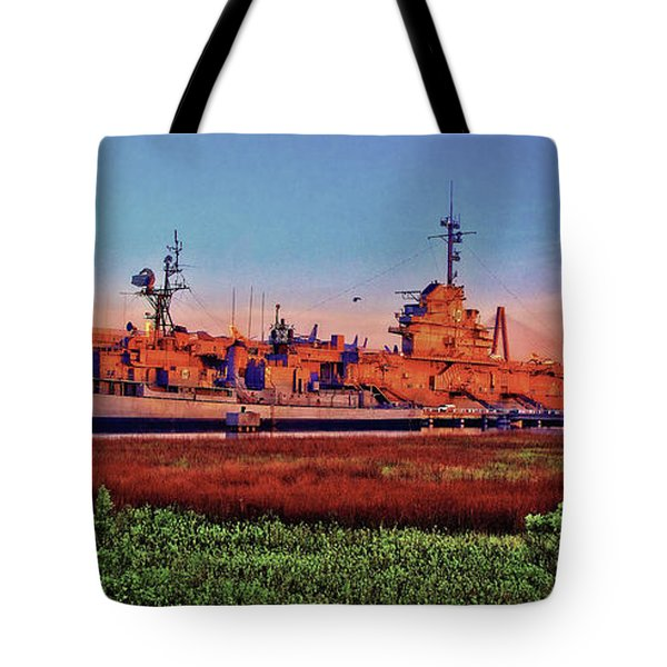 Uss York Town Tote Bag
