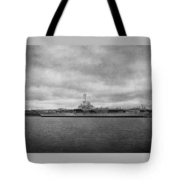 Tote Bag featuring the photograph Uss Yorktown by Sandy Keeton