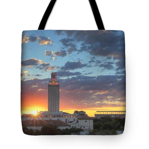 Ut Tower At Sunrise 2 Tote Bag