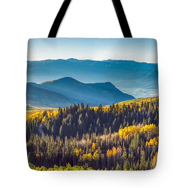 Utah Autumn Panorama Tote Bag