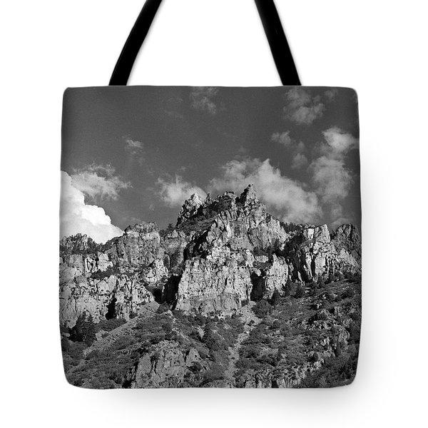 Utah Mountains Near Sun Valley 2003  Tote Bag