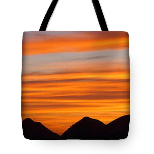 Utah Mountains Sunset Panorama Tote Bag