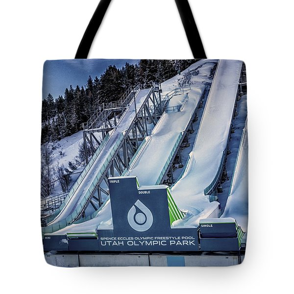 Utah Olympic Park Tote Bag by David Millenheft