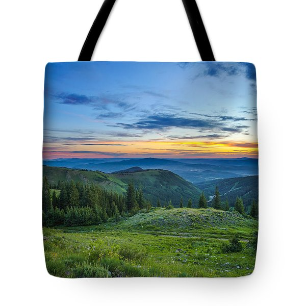 Utah Sunrise Above Park City Tote Bag
