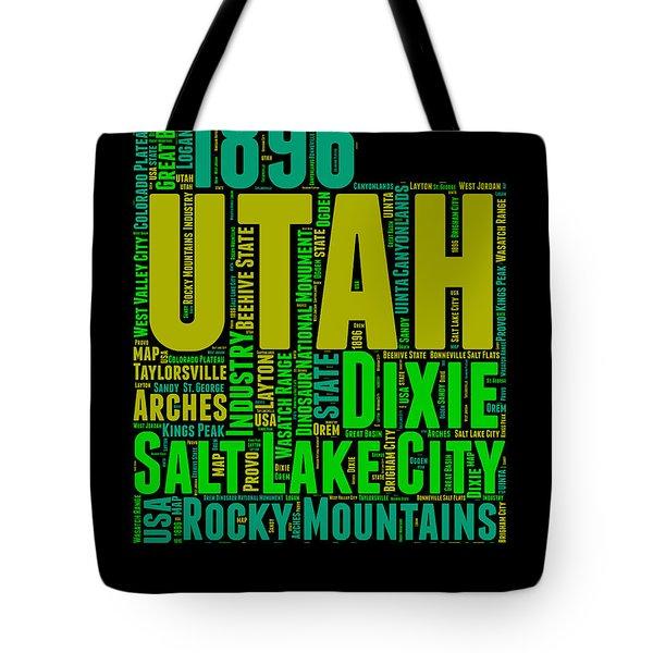 Utah Word Cloud Map 1 Tote Bag
