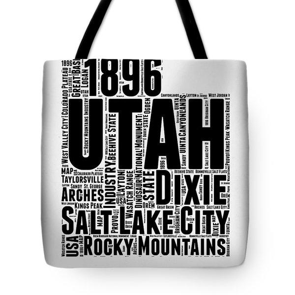 Utah Word Cloud Map 2 Tote Bag