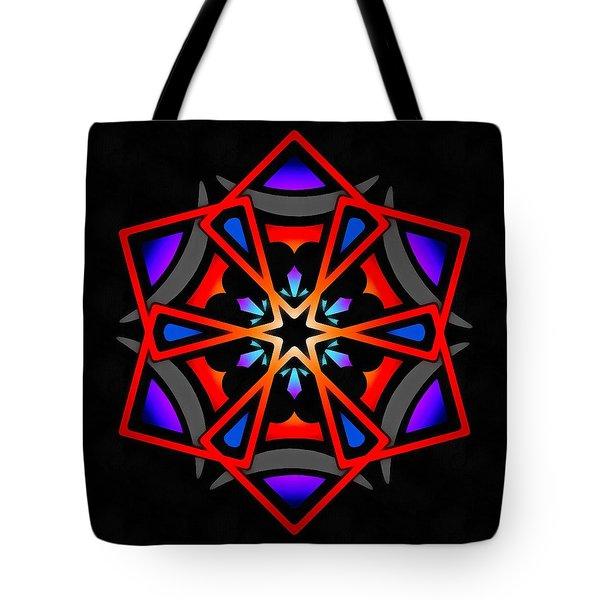 Tote Bag featuring the digital art Utron Star by Derek Gedney