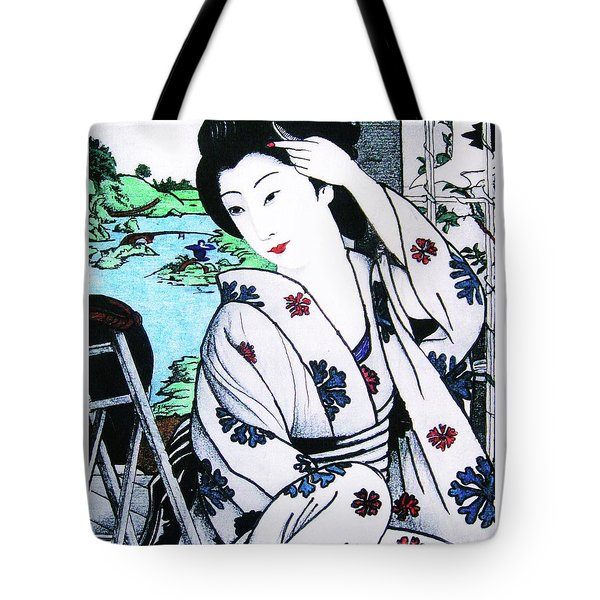 Tote Bag featuring the painting Utsukushii Josei by Roberto Prusso