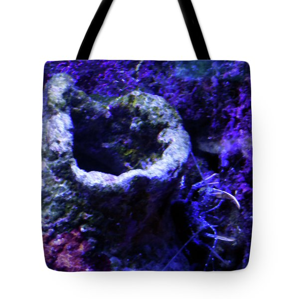 Tote Bag featuring the digital art Uw Coral Stone by Francesca Mackenney