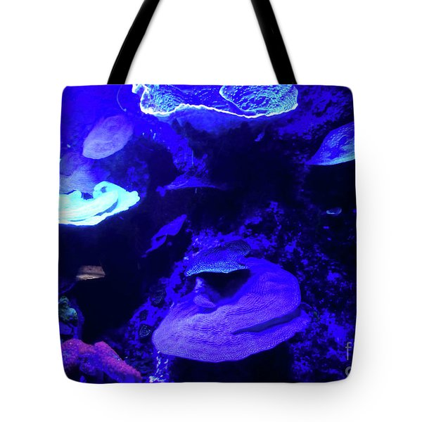 Tote Bag featuring the photograph Uw Neon Coral by Francesca Mackenney