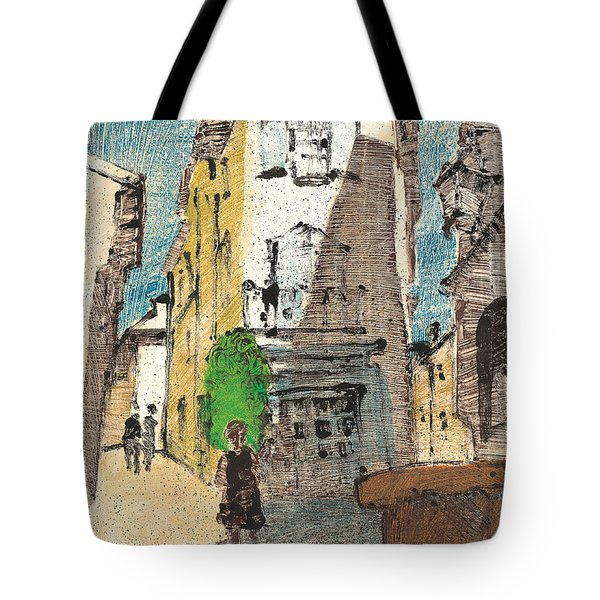 Tote Bag featuring the painting Uzes Provence by Martin Stankewitz