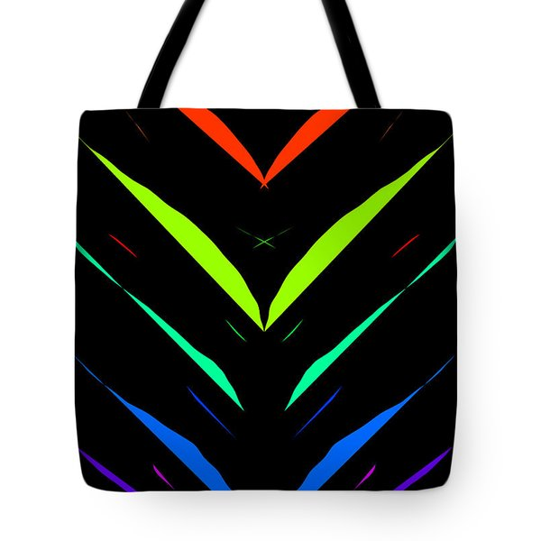 Tote Bag featuring the drawing V - Shape Artwork by Sheila Mcdonald