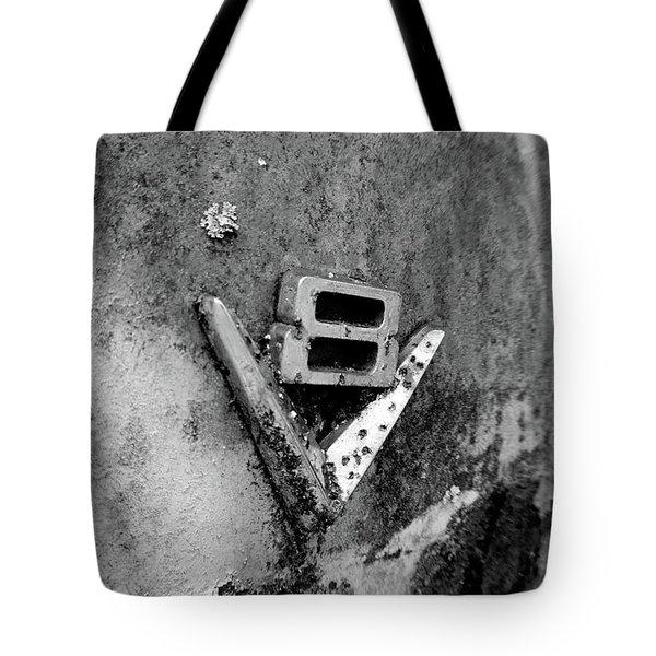 V8 Emblem Tote Bag