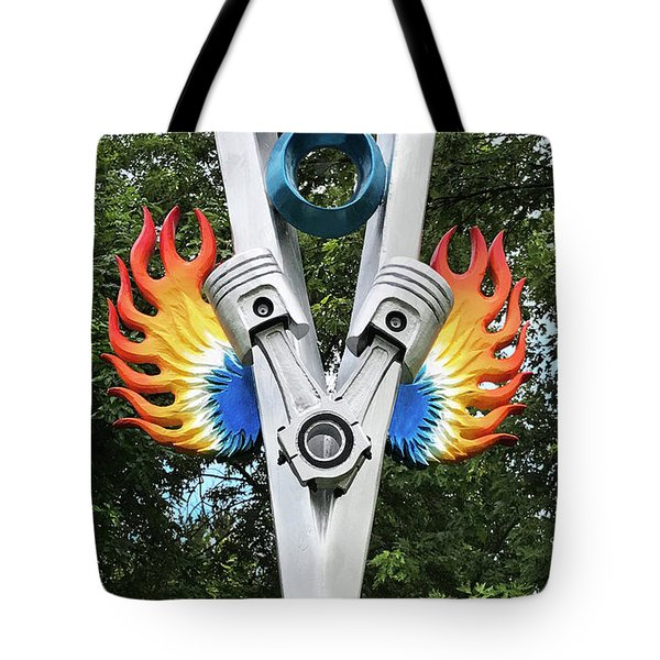 V8 Tree Carving  Tote Bag