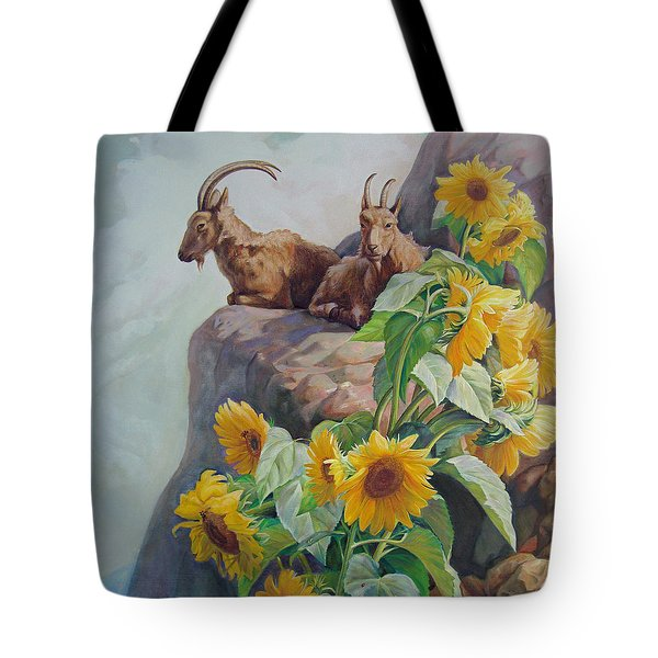 Vacation In The Rocky Mountains Tote Bag by Svitozar Nenyuk