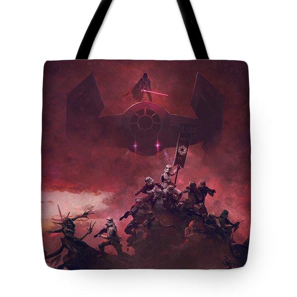 Vader Vs Aliens 2 Tote Bag