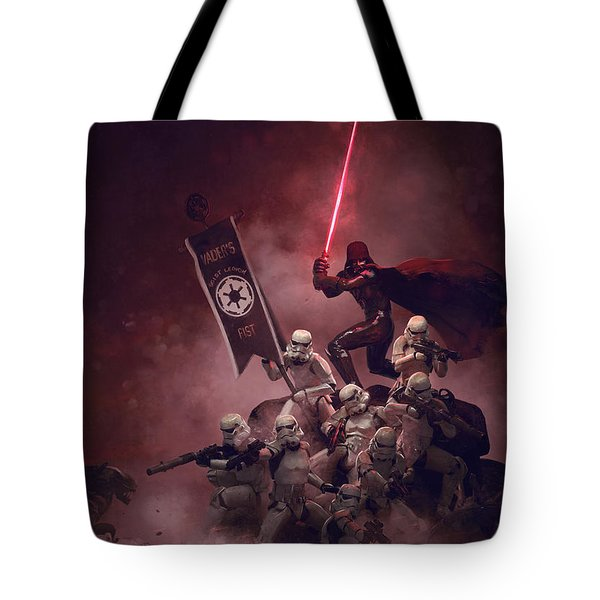 Vader Vs Aliens 3 Tote Bag