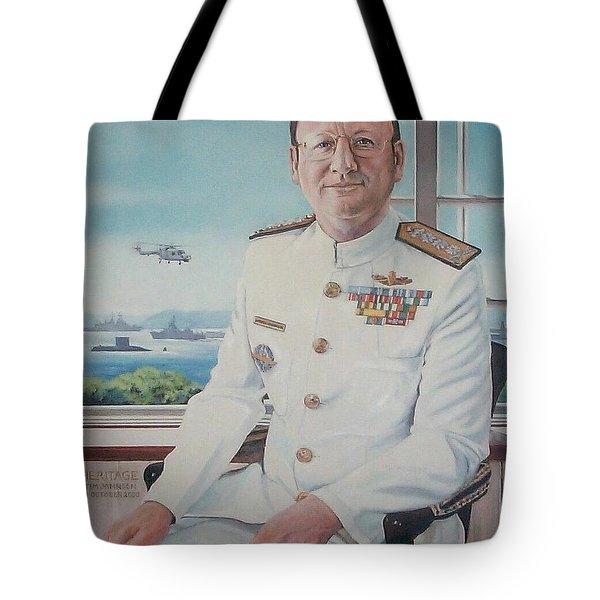Vadm Robert Claude Simpson-anderson Tote Bag by Tim Johnson