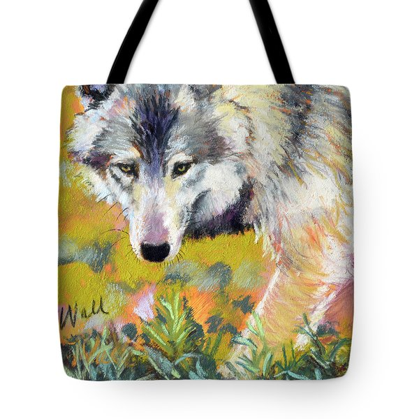 Tote Bag featuring the pastel Vagabond by Pattie Wall