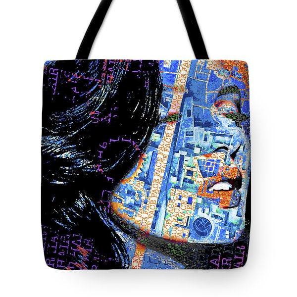 Tote Bag featuring the mixed media Vain by Tony Rubino