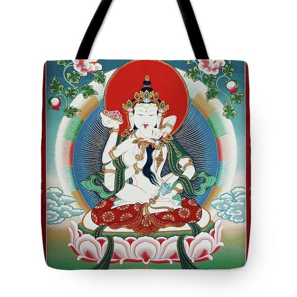 Vajrasattva Yuganadha  Tote Bag by Sergey Noskov
