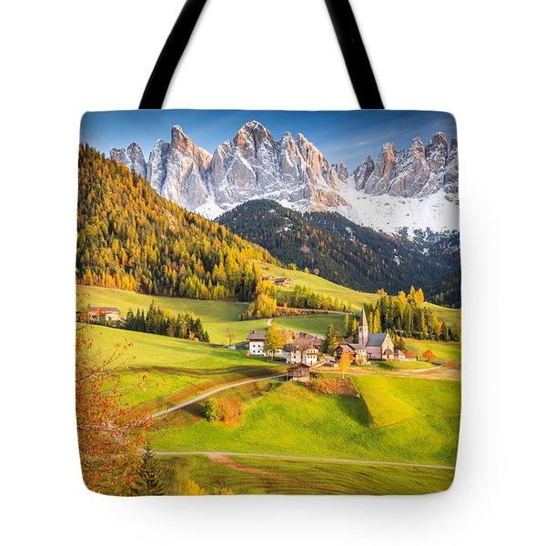 Val Di Funes, Italy Tote Bag