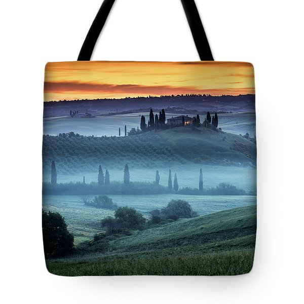 Val D'orcia Tote Bag by Evgeni Dinev